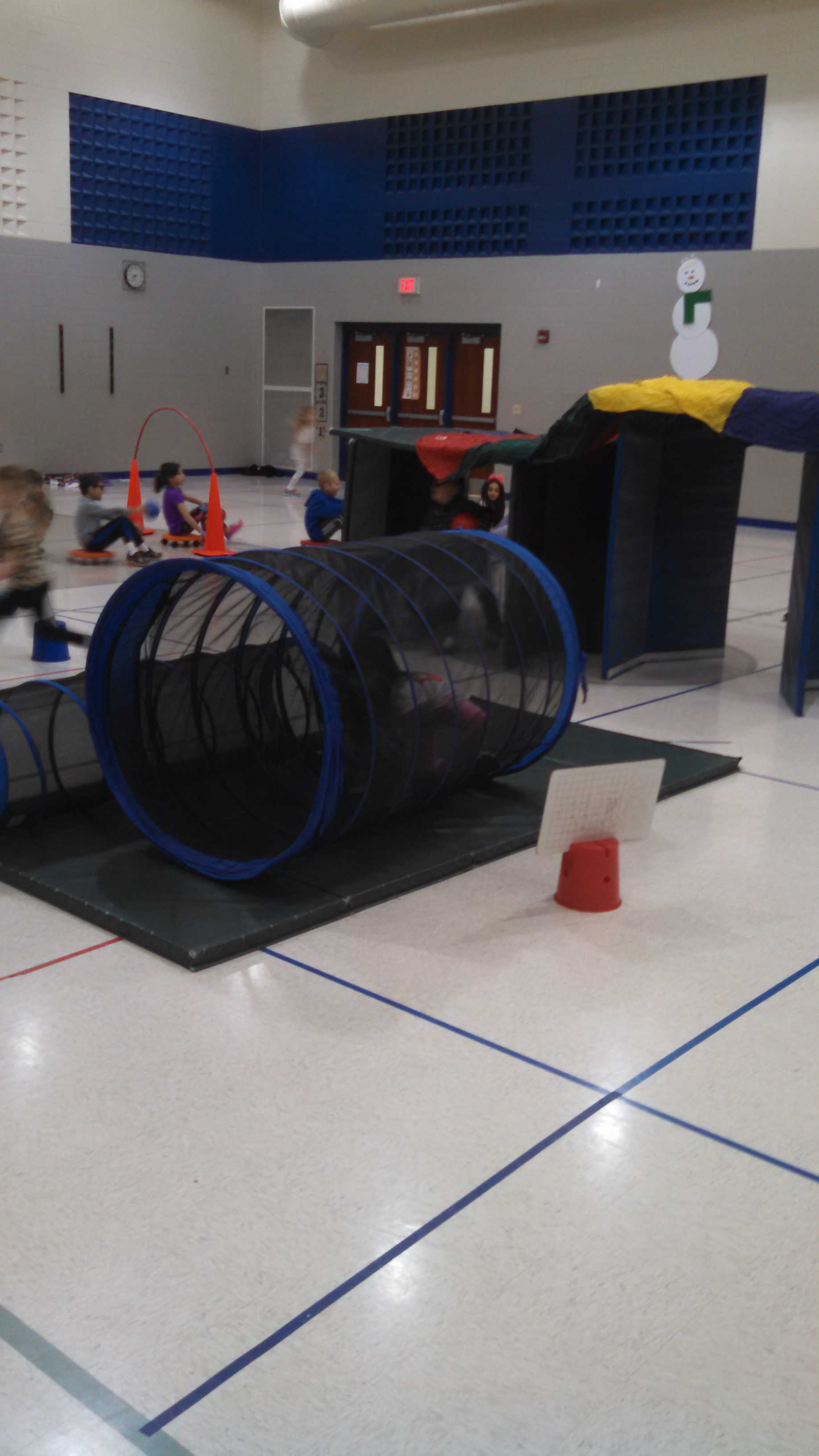 the obstacle course in the gym